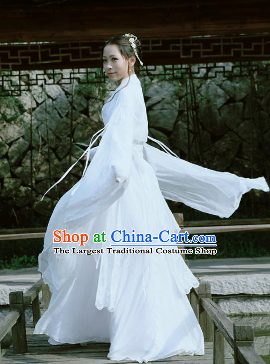 Top Grade Asian Chinese Cosplay Costumes Cartoon Characters Clothing Ancient Swordsman Hanfu Dress
