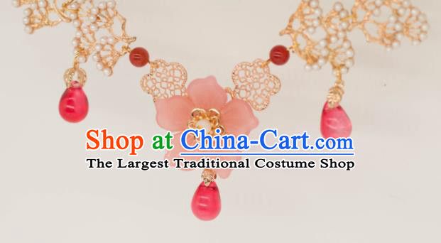 Traditional Chinese Court Necklace Ancient Palace Lady Handmade Necklet Accessories for Women