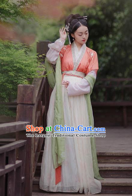 Ancient Chinese Tang Dynasty Princess Replica Costumes Traditional Nobility Lady Hanfu Dress for Rich