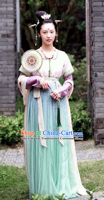 Ancient Chinese Tang Dynasty Princess Replica Costumes Traditional Hanfu Dress Complete Set