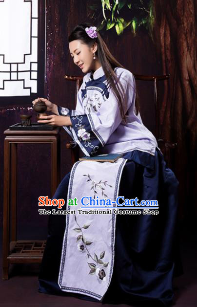 Chinese Ancient Nobility Lady Hanfu Dress Traditional Qing Dynasty Xiuhe Suit Embroidered Costumes for Women