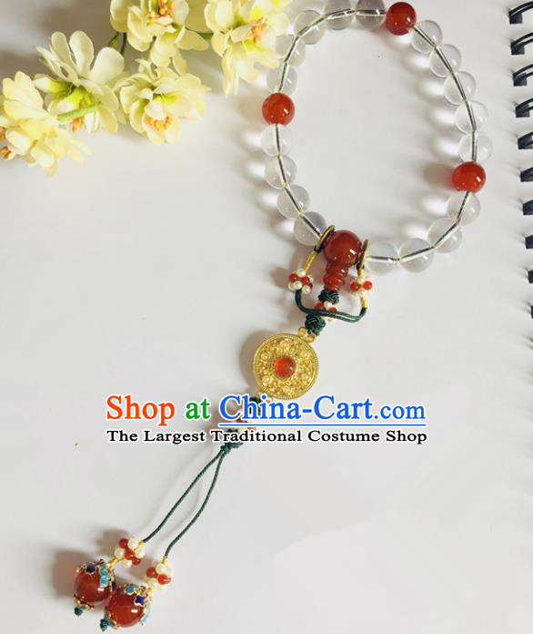 Chinese Classical Jewelry Accessories Traditional Ancient Prayer Beads Hanfu Bracelet for Women