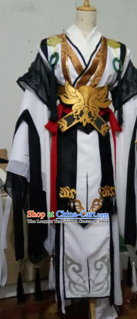 Chinese Traditional Cosplay Swordsman Costumes Ancient Nobility Childe Embroidered Clothing for Men