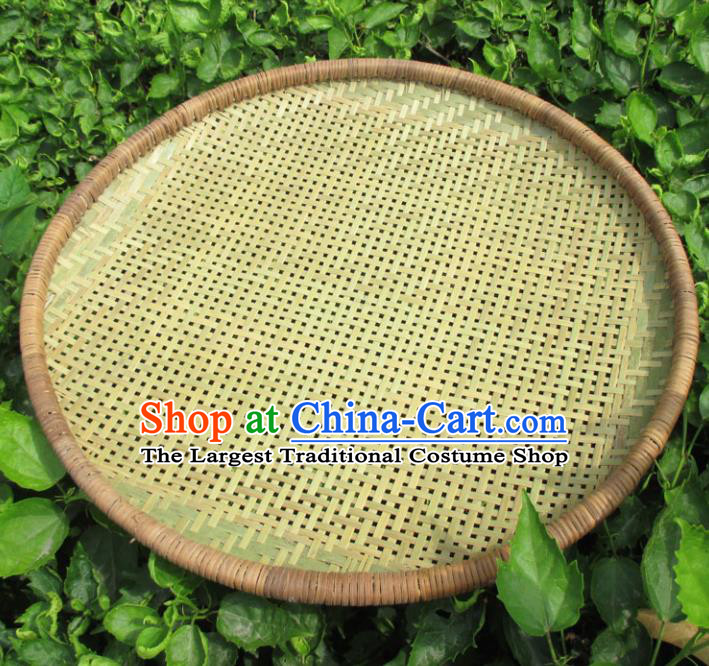 Chinese Traditional Handmade Straw Braid Craft Rattan Riddle Bamboo Dustpan
