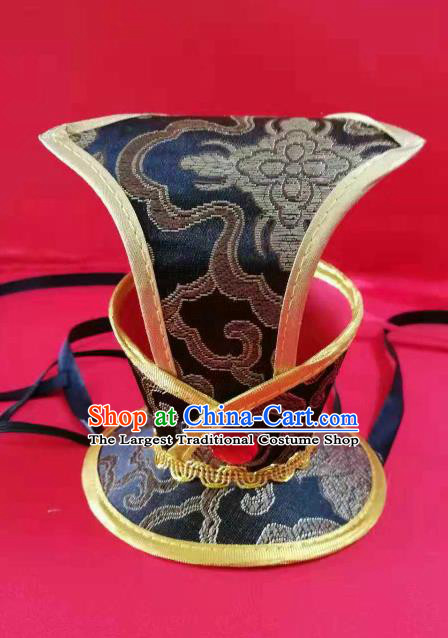 Chinese Traditional Han Dynasty Hair Accessories Ancient Minister Classical Dance Headwear for Men