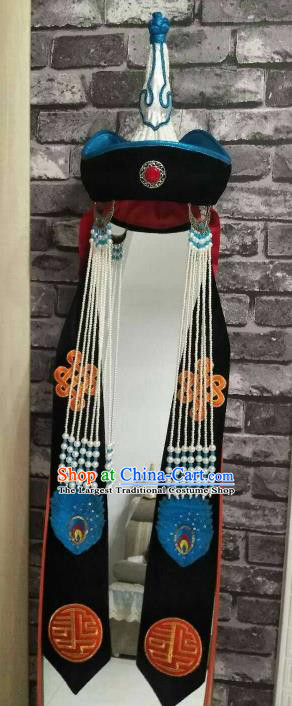 Traditional Chinese Mongol Nationality Princess Hat Mongolian Ethnic Folk Dance Hair Accessories for Women