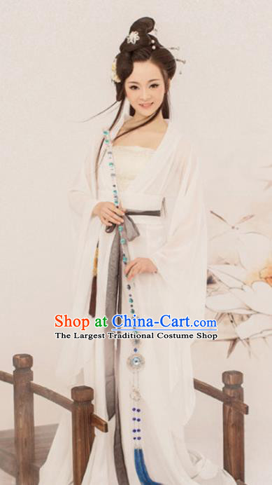 Chinese Ancient Swordswoman Hanfu Dress Traditional Drama Peri Costumes for Women