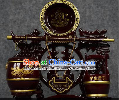 Chinese Traditional Wedding Supplies Wedding Dowry Closestools