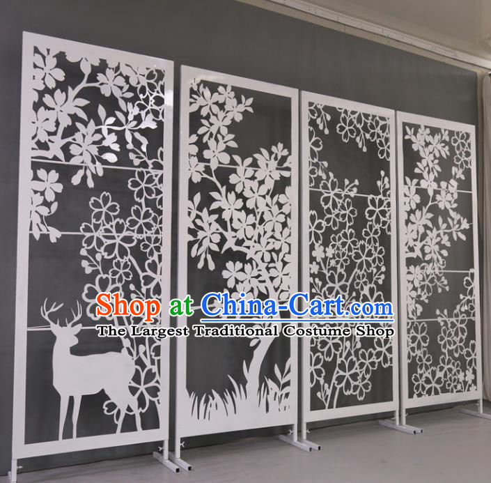 Chinese Traditional Wedding Folding Ccreen Films Props Iron Accordion Screen