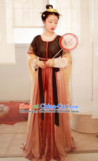 Chinese Tang Dynasty Palace Lady Replica Costumes Traditional Ancient Princess Hanfu Dress for Women
