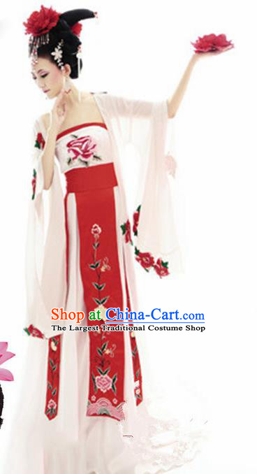 Chinese Tang Dynasty Imperial Consort Hanfu Dress Ancient Peri Dance Costumes for Women