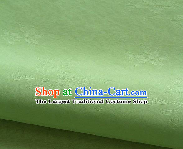 Asian Korean Traditional Grass Green Tajung Fabric Classical Pattern Thin Tough Silk Fabric Hanbok Silk Material
