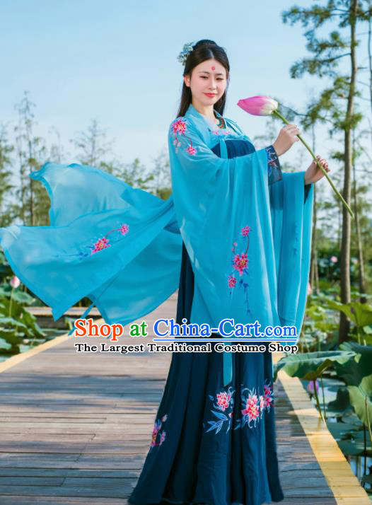 Chinese Traditional Tang Dynasty Palace Lady Historical Costumes Ancient Princess Hanfu Dress for Women