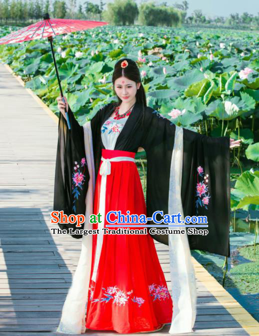 Chinese Traditional Nobility Lady Historical Costumes Ancient Tang Dynasty Hanfu Dress for Women