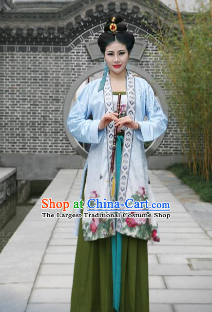 Chinese Ming Dynasty Traditional Historical Costumes Ancient Young Lady Hanfu Dress for Women