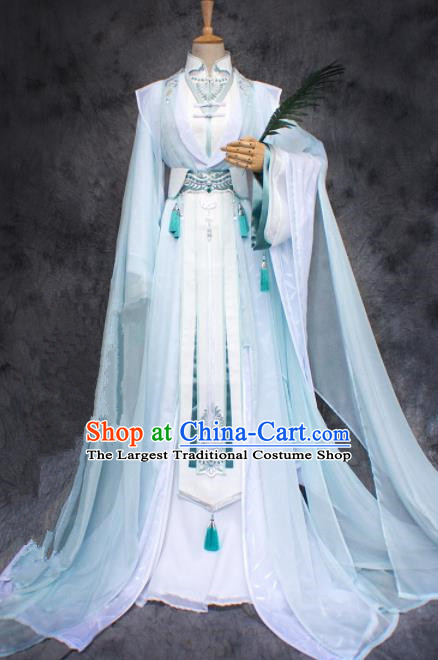 Chinese Ancient Cosplay Young Swordsman Costumes Traditional Nobility Childe Hanfu Clothing for Men