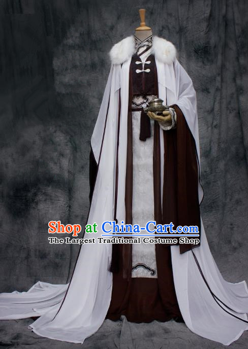 Chinese Ancient Swordsman Costumes Traditional Cosplay Nobility Childe Hanfu Clothing for Men