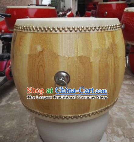 Chinese Traditional Handmade Drums Folk Dance Wood Drum Cowhide Drums