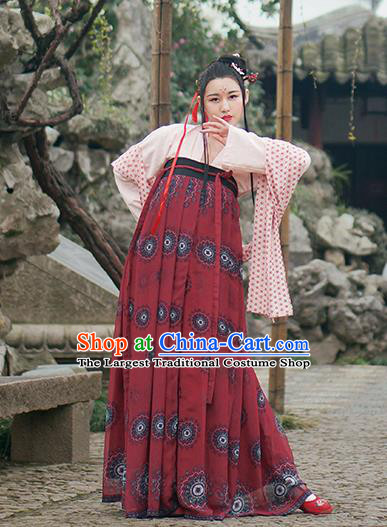 Chinese Traditional Tang Dynasty Hanfu Dress Ancient Palace Princess Costumes for Women