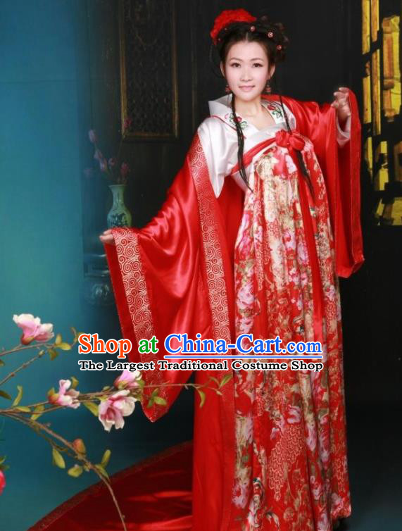 Ancient Chinese Palace Costumes Tang Dynasty Princess Hanfu Dress for Women