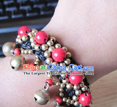 Chinese Traditional National Bangle Accessories Ethnic Bells Bracelet for Women