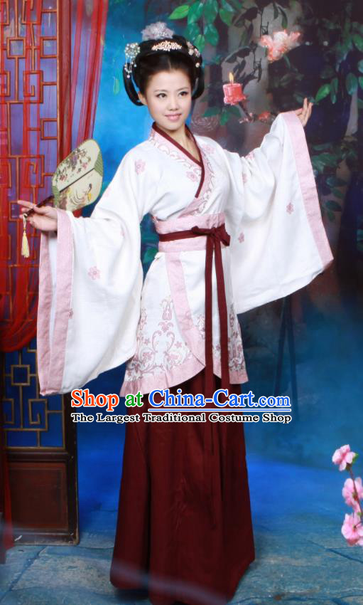 Chinese Ancient Peri Costumes Han Dynasty Palace Princess Hanfu Dress for Women