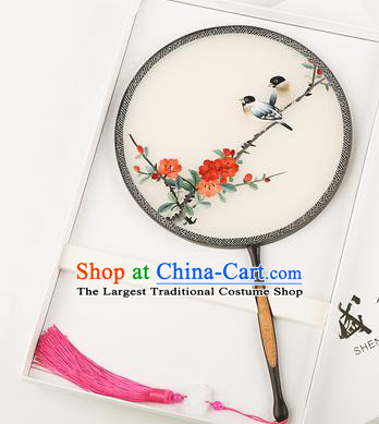 Chinese Traditional Palace Fans Embroidered Fans Ancient Hanfu Silk Round Fan for Women