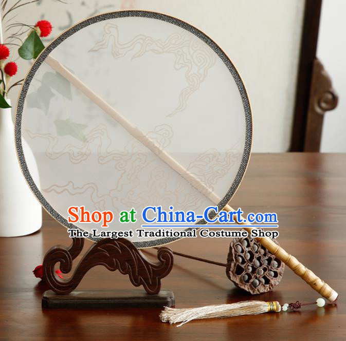 Chinese Traditional Palace Fans Hanfu Round Fans Ancient Silk Fan for Women