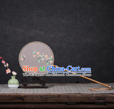 Chinese Ancient Traditional Palace Fans Hanfu Hand Painting Pink Flowers Fans Silk Fan for Women