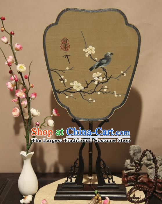 Chinese Ancient Traditional Palace Fans Hanfu Pure Silk Round Fans for Women