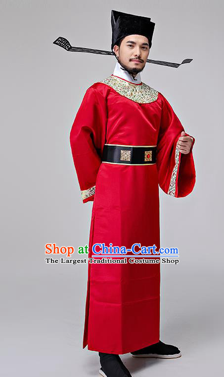 Chinese Ancient Song Dynasty Drama Prime Minister Costumes and Hat for Men