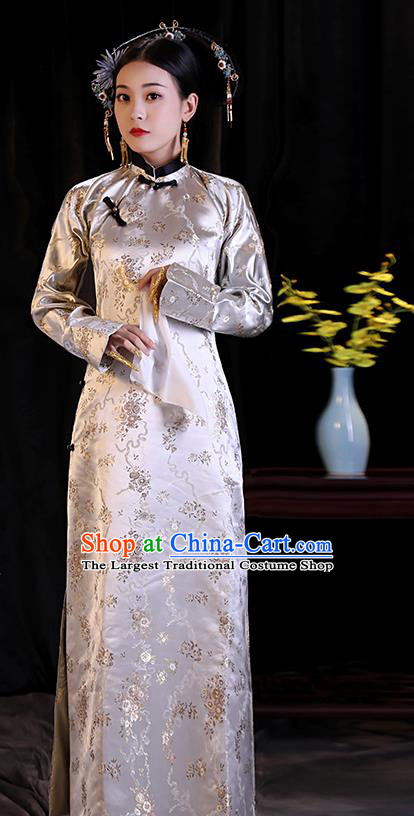 Chinese Ancient Drama Costumes Qing Dynasty Manchu Imperial Empress Dresses for Women