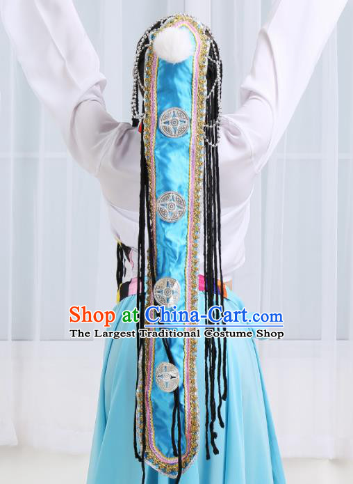 Chinese Traditional Mongolian Folk Dance Hair Accessories Classical Dance Headwear for Women