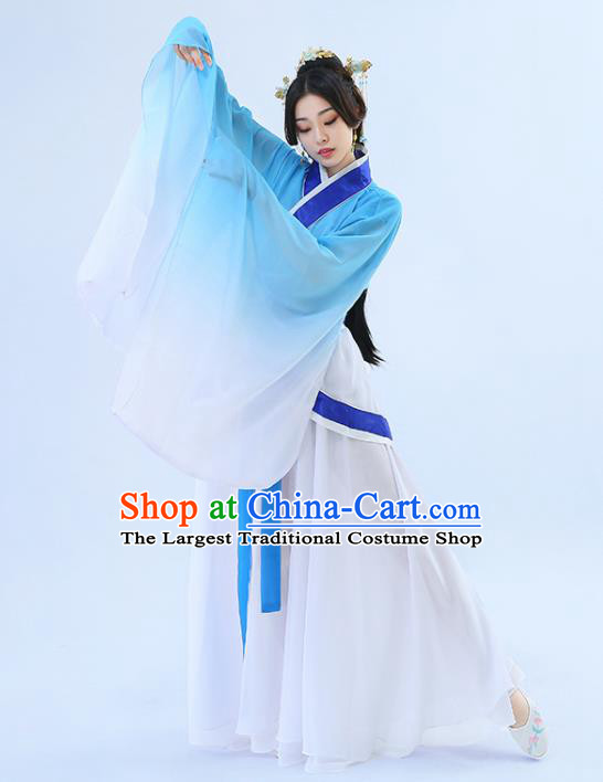 Traditional Chinese Han Dynasty Palace Maidservant Hanfu Dress Ancient Drama Princess Peri Costumes for Women