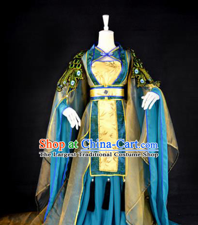Traditional Chinese Cosplay Imperial Consort Costumes Ancient Princess Peri Hanfu Dress for Women