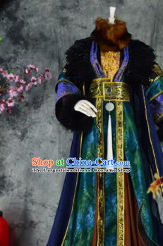 Traditional Chinese Cosplay Royal Highness Costumes Ancient Swordsman King Hanfu Clothing for Men