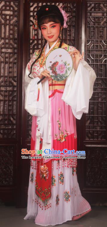 Chinese Ancient Nobility Lady Embroidered Dress Traditional Peking Opera Actress Costumes for Adults