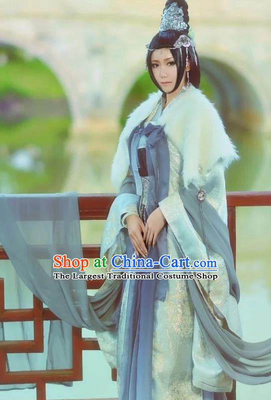 Chinese Traditional Peri Hanfu Dress Ancient Imperial Consort Costumes for Women