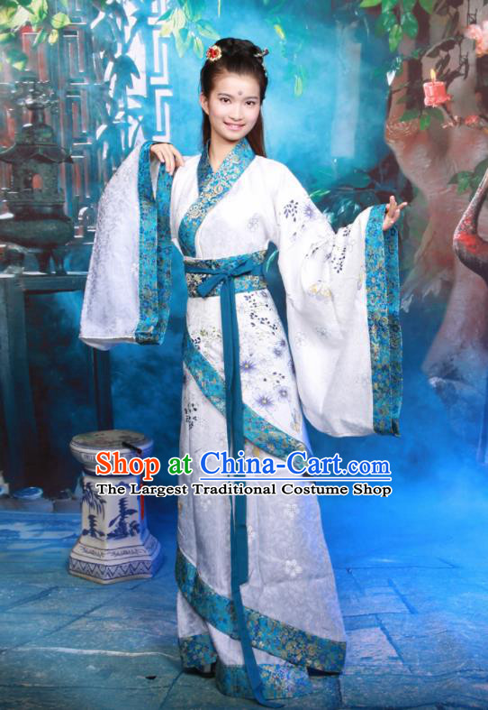 Chinese Traditional Ancient Princess Historical Hanfu Dress Han Dynasty Palace Lady Costumes for Women