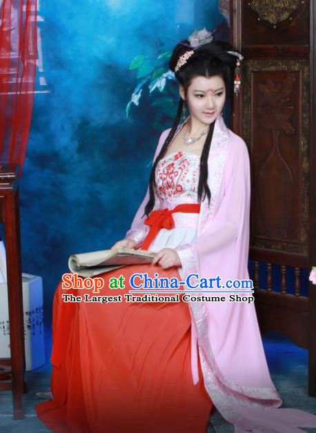 Chinese Tang Dynasty Princess Hanfu Dress Ancient Peri Historical Costumes for Women