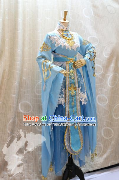 Ancient Traditional China Cosplay Tang Dynasty Palace Princess Costumes Complete Set for Women