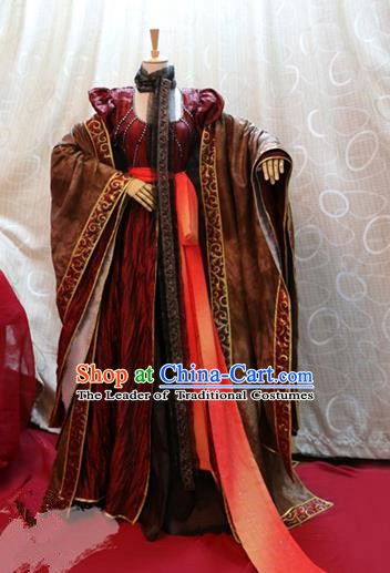 China Ancient Cosplay Queen Clothing Traditional Tang Dynasty Palace Lady Dress for Women
