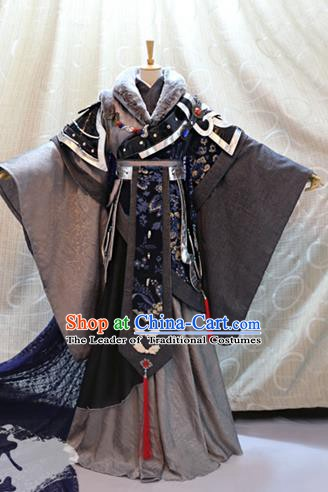 Ancient China Cosplay Tang Dynasty Swordsman Costumes Traditional Royal Highness Clothing for Men