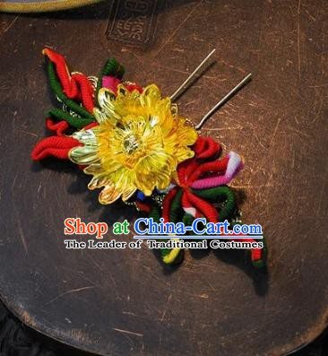 Chinese Handmade Classical Lotus Hairpins Ancient Hanfu Headdress Hair Accessories for Women