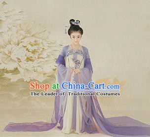 China Ancient Tang Dynasty Nobility Lady Costume Traditional Princess Hanfu Clothing for Kids