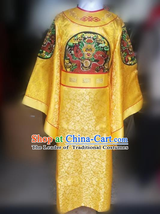 Traditional Chinese Stage Performance Costume Ancient Song Dynasty Emperor Hanfu Clothing for Men