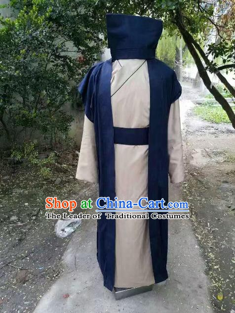 Traditional Chinese Stage Performance Costume Ancient Song Dynasty Prime Minister Clothing for Men