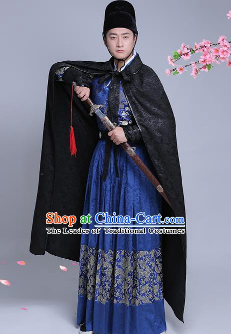 Traditional Chinese Stage Performance Costume Ancient Ming Dynasty Imperial Guards Clothing for Men