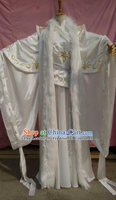 Traditional China Ancient Cosplay Swordsman Embroidered Costume Fancy Prince Clothing for Men