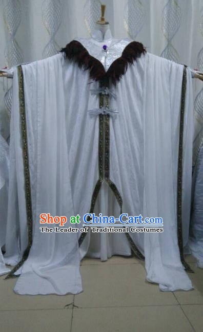 Traditional China Ancient Cosplay Swordsman Costume Royal Highness Clothing for Men